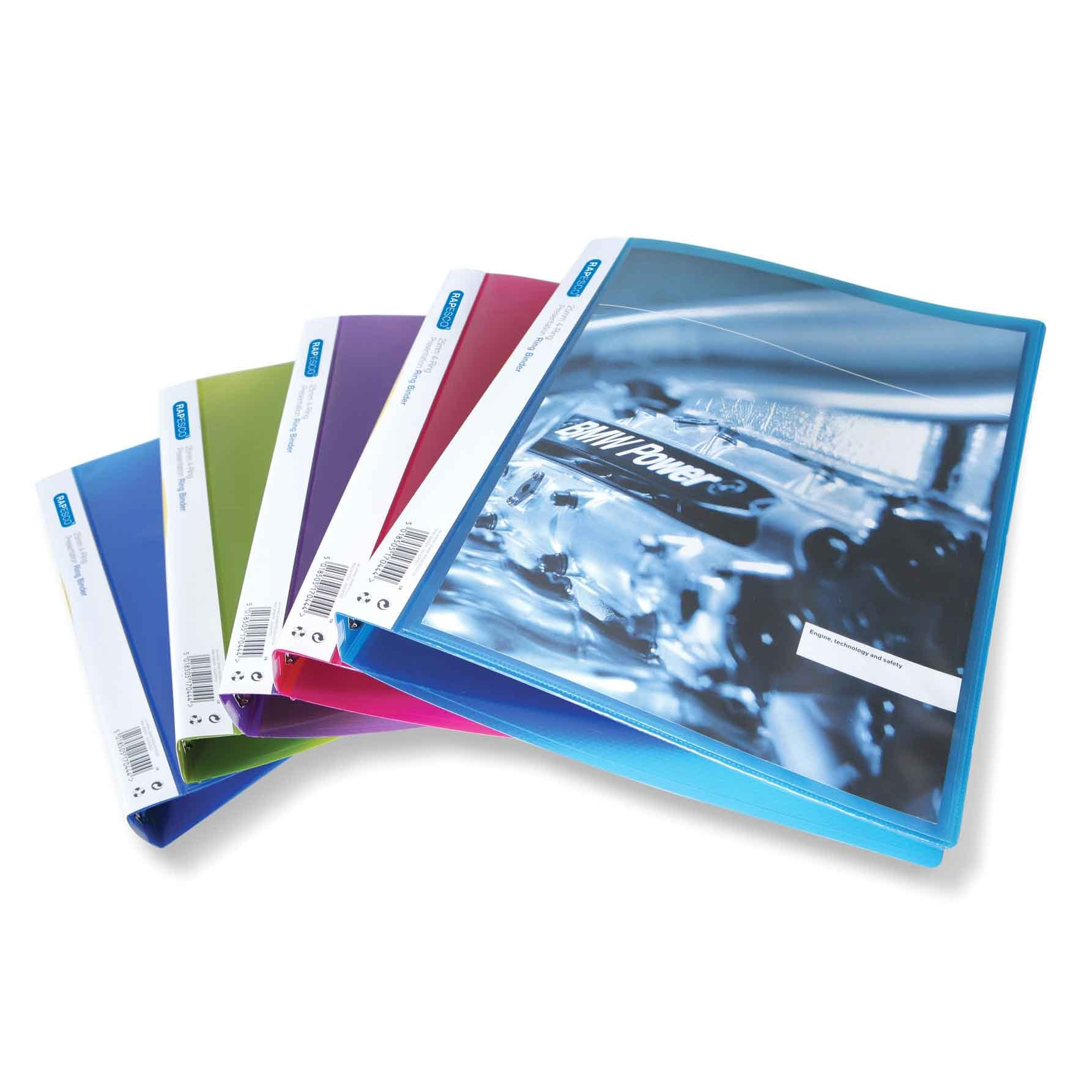 4-Ring Binder Rapesco A4 25mm - Assorted