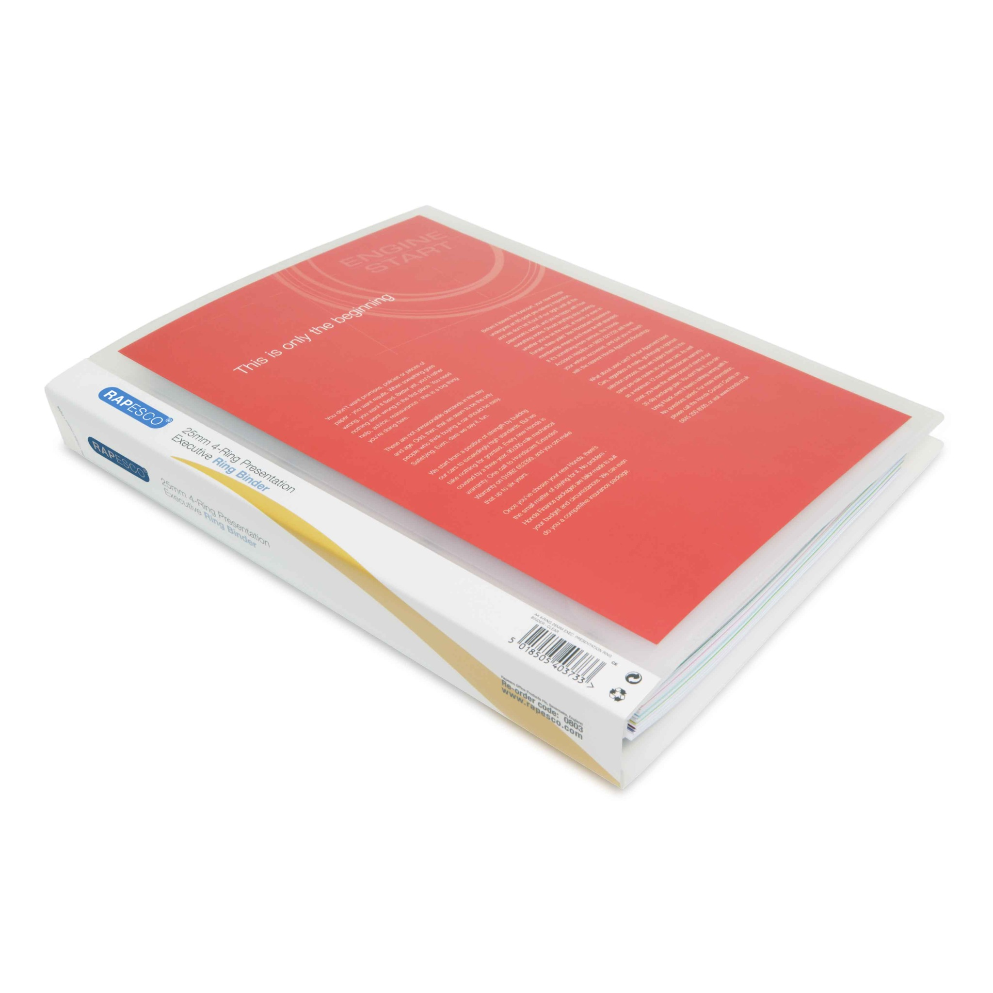 Executive 4-Ring Binder A4 25mm Clear