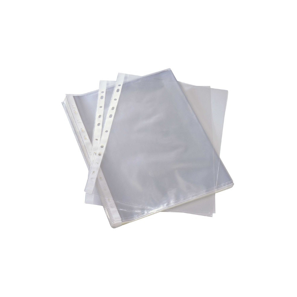 Punched Pockets A4+ 22x30cm Extra Thick U-Shaped x 50pcs