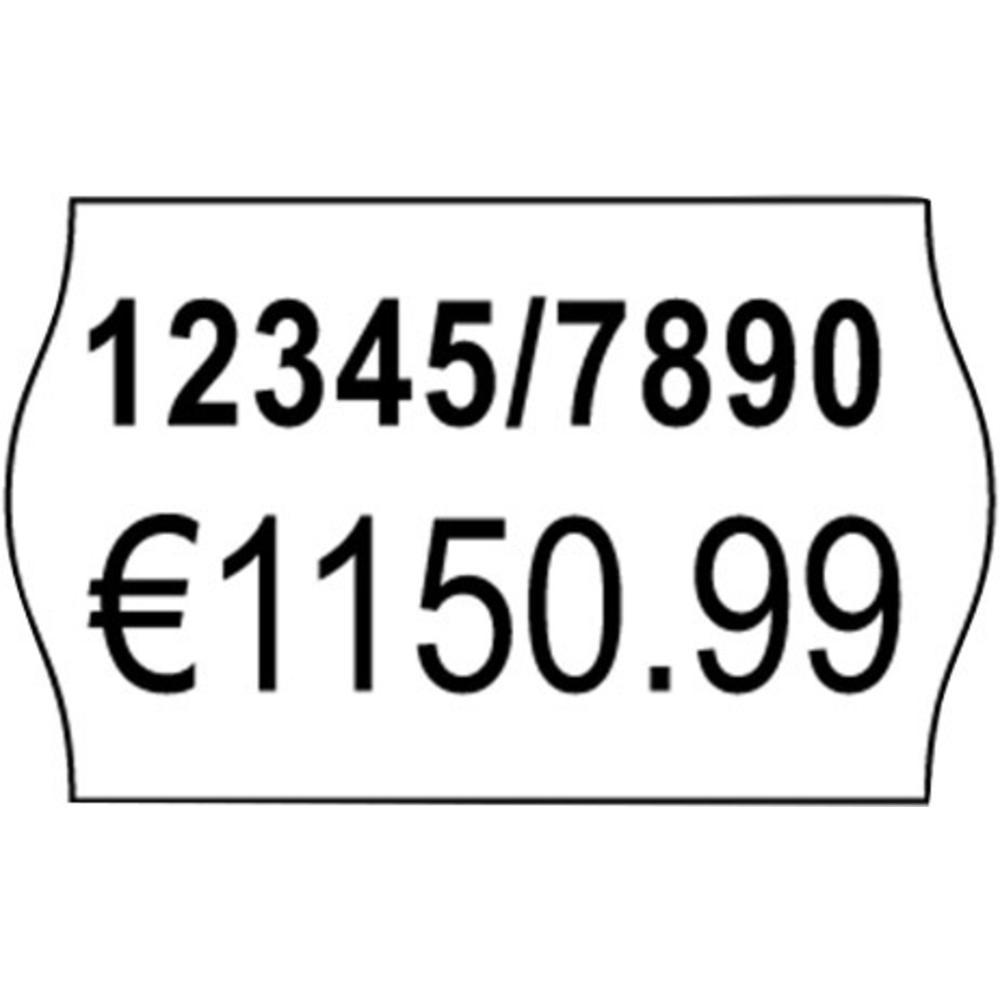 White Dual Layer Removable Price Label 26x16mm x 1000 labels