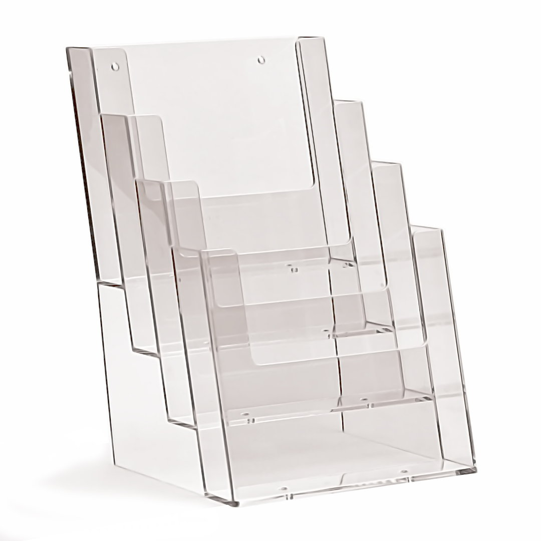 Brochure Holder A5 Desk Type x 4 Compartments