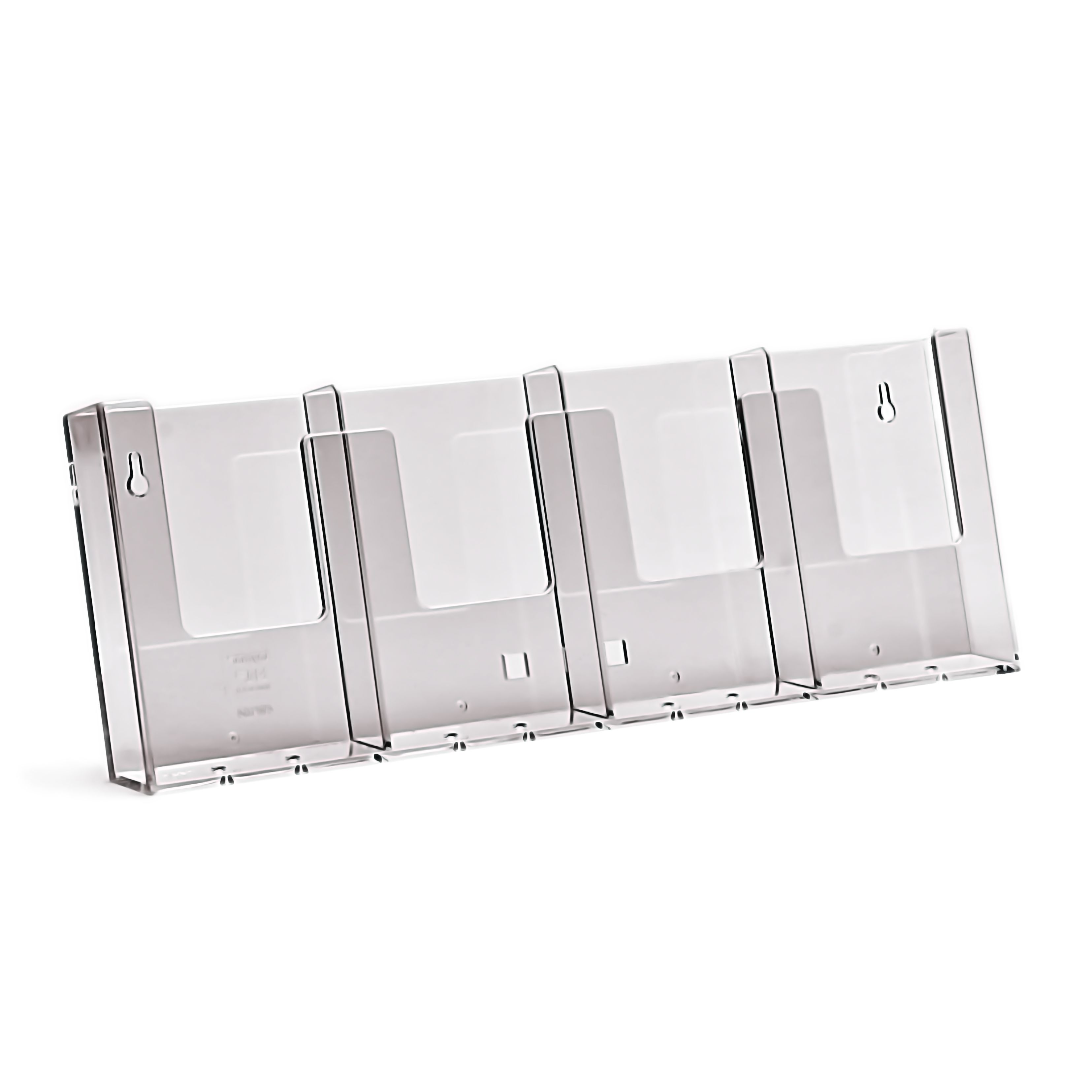 Brochure Holder ? of A4 Wall Mount Landscape x 4 Compartments