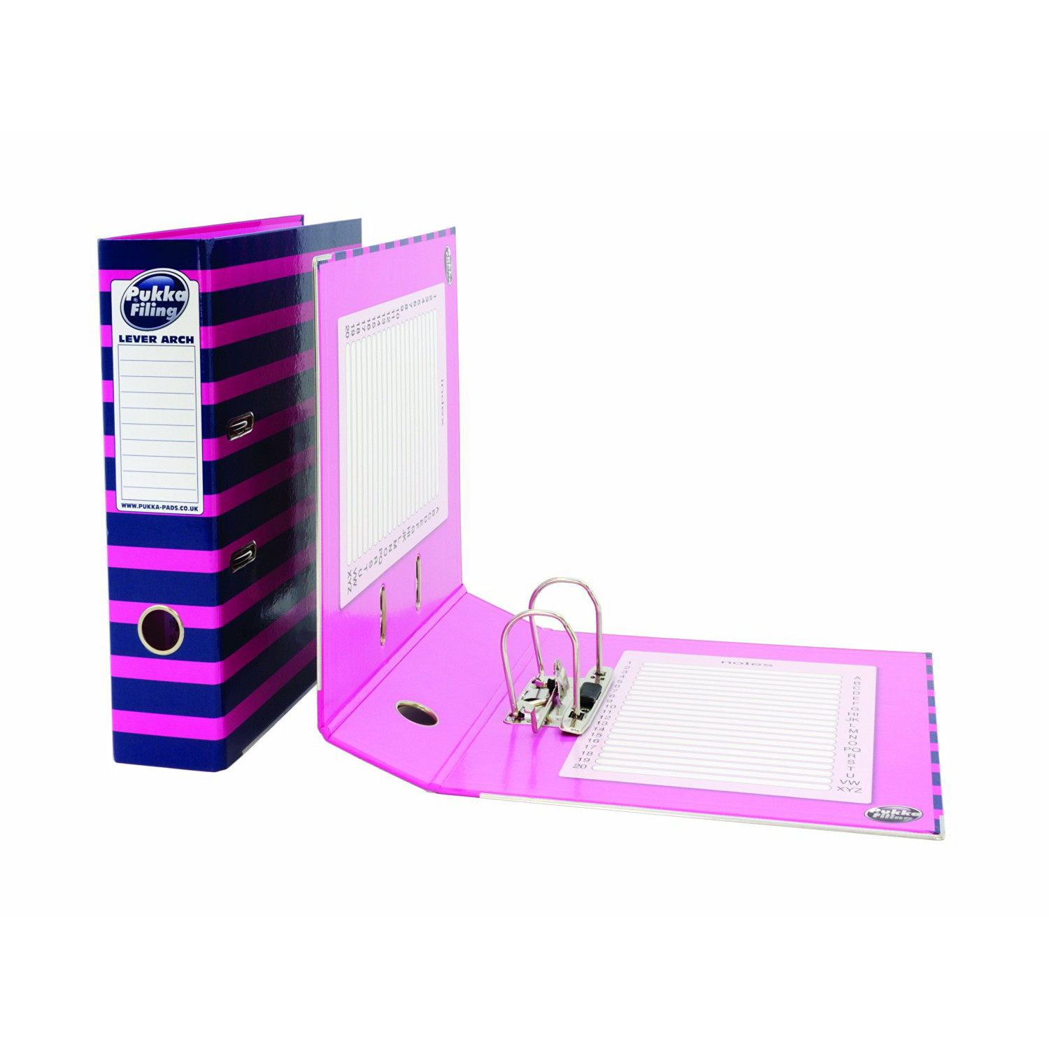 """Pukka Lever Arch File 3"""" Spine A4 (8-32) - Pink"""
