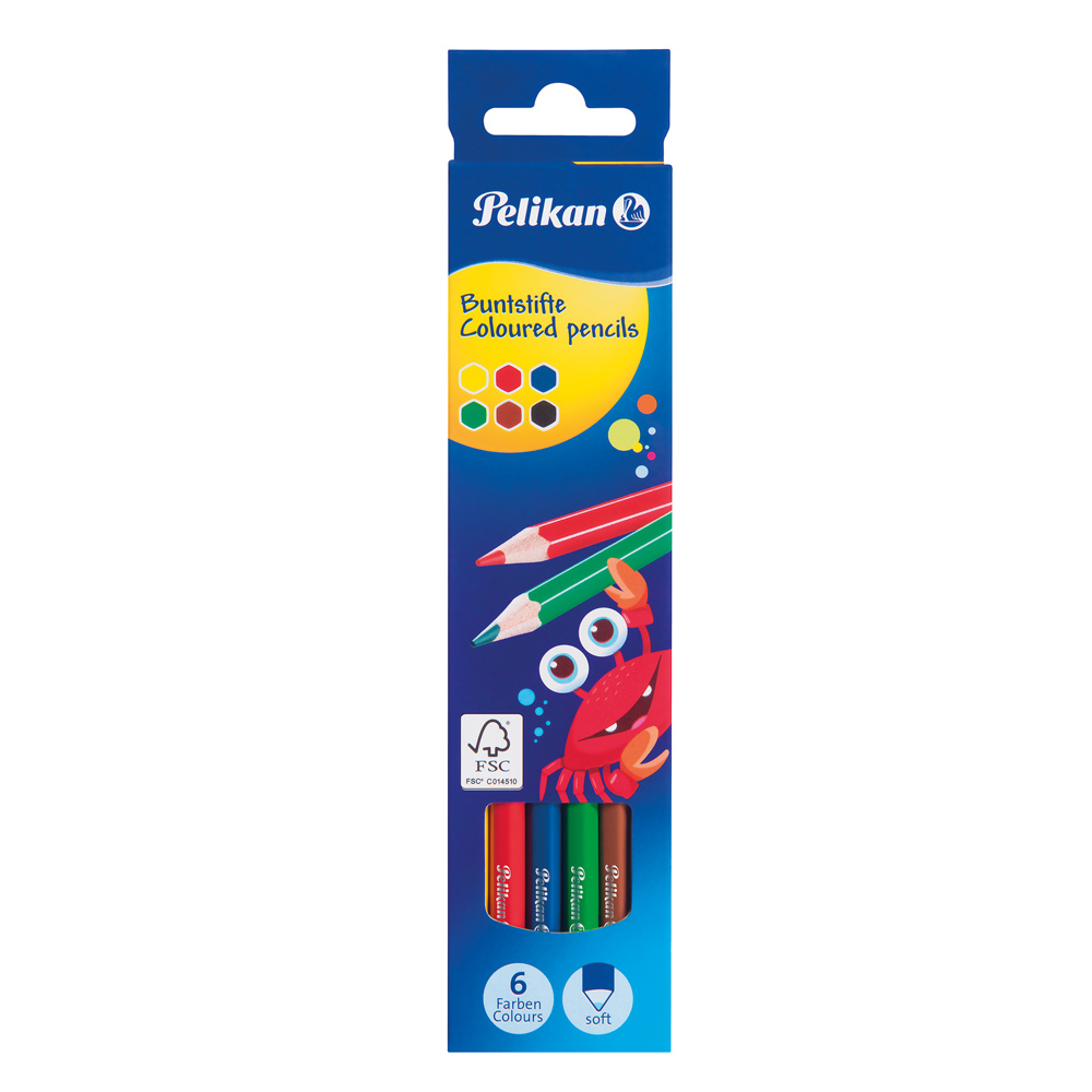 Pelikan Pencil Colours Long x 6
