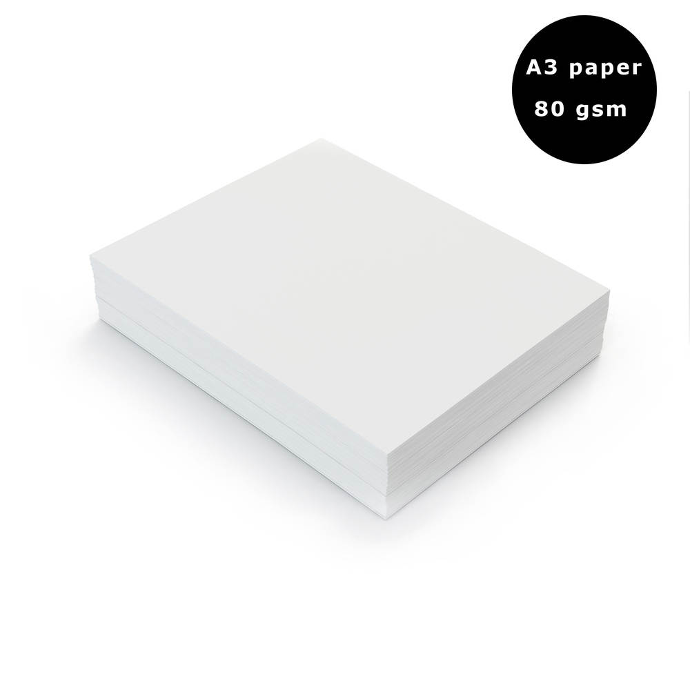 A3 80gsm White Paper x 500 sheets