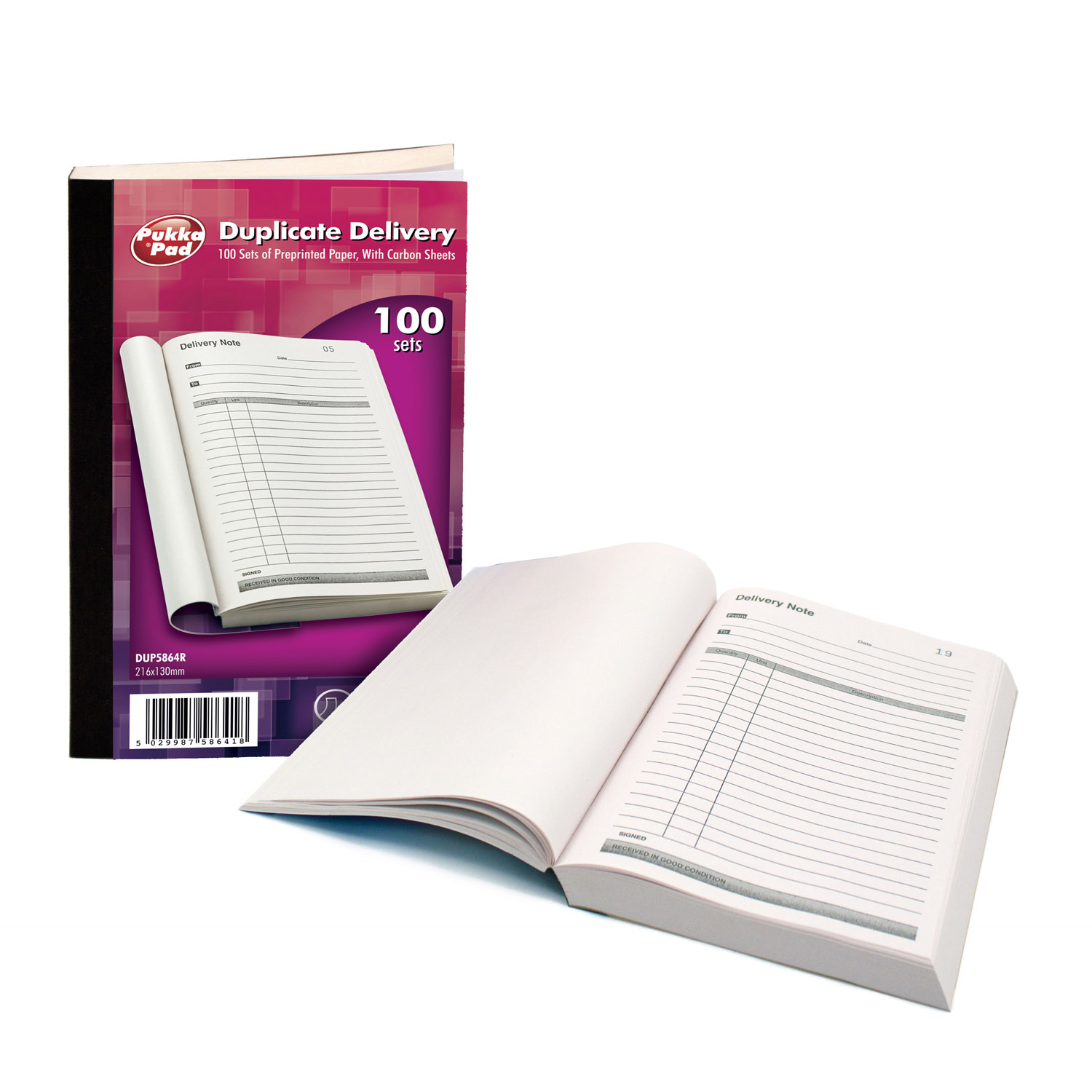Pukka Delivery Notebooks Duplicate 216x130mm
