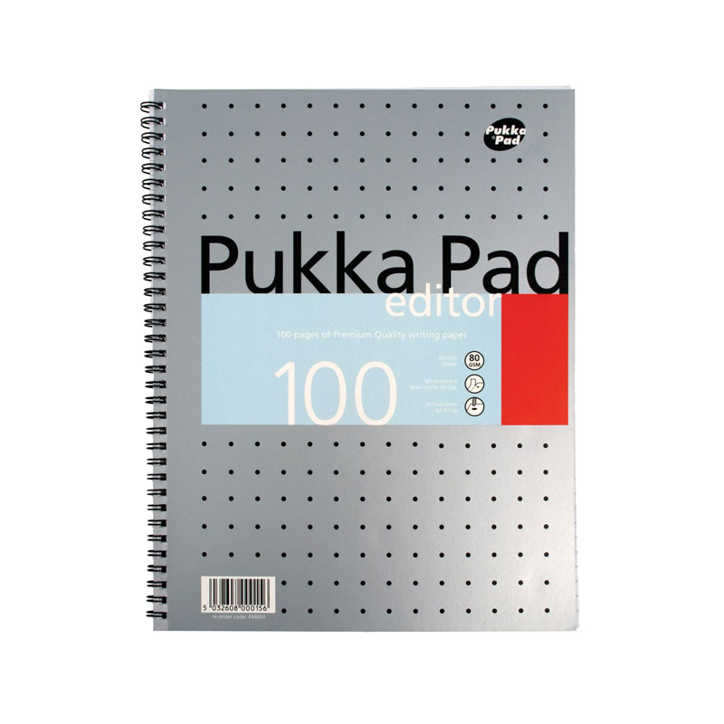 A4 Side Spiral Notebook Pukka x 100 pages