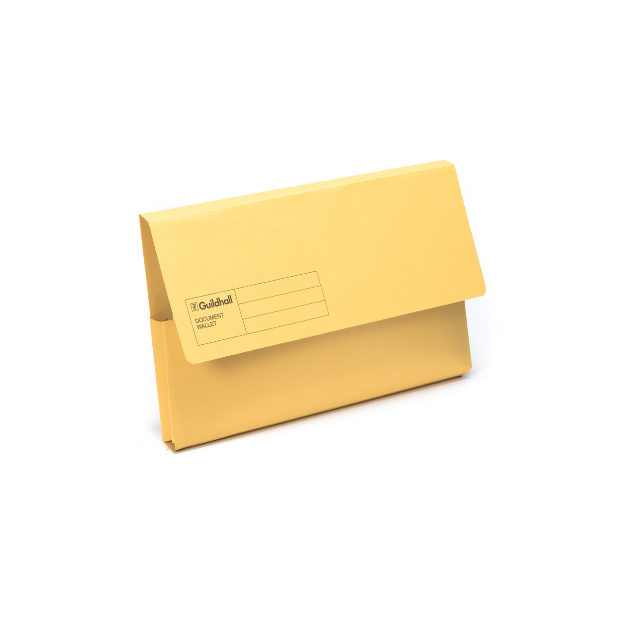 Document Wallet Carton - Yellow
