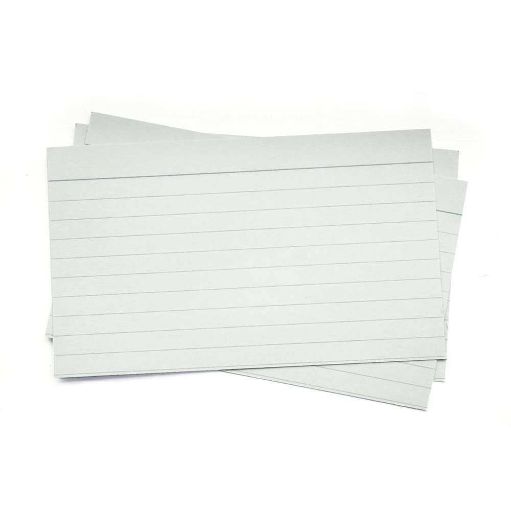 "Index Cards Lined 5"" x 3"" x 100 cards"